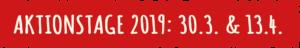 Gemeinsam Gehts Besser - Aktionstage 2019: 30.3. & 13.4.