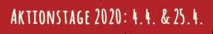 Gemeinsam Gehts Besser - Aktionstage 2020 - 4.4. & 25.4.